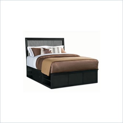 American Drew Sterling Pointe Storage Platform Bed in Black Finish