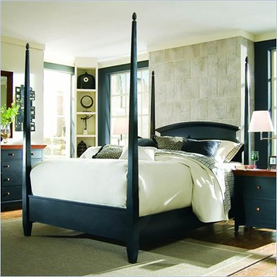 American Drew Sterling Pointe Poster Bed in Black