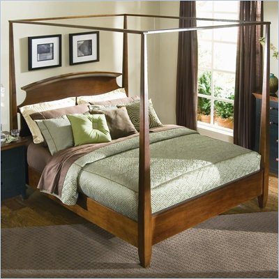 American Drew Sterling Pointe Wood Poster Bed 3 Piece Bedroom Set in Cherry