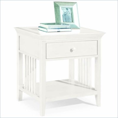 American Drew Sterling Pointe Single Drawer Nightstand in Off-White