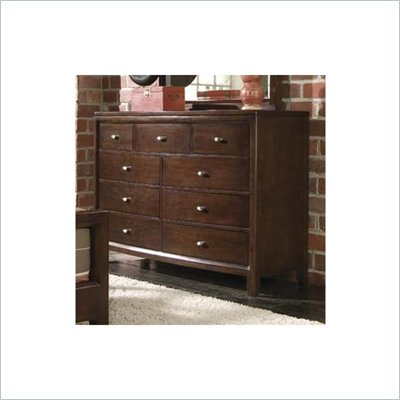 American Drew Tribecca Wood Top Dresser in Root Beer Finish