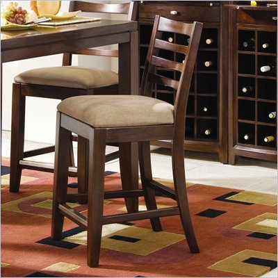 American Drew Tribecca 25 Inch Splat Back Bar Stool in Root Beer Finish
