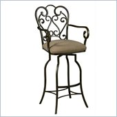Pastel Furniture Magnolia Rust 34 Arm Swivel Bar Stool in Moccasin