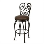 Pastel Furniture Magnolia Rust 26 Swivel Bar Stool in Florentine Coffee