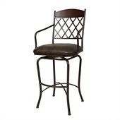 Pastel Furniture Napa Ridge Rust 34  Swivel Arm Spectator Stool in Florentine Coffee