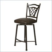 Pastel Furniture Waverly Rust 26 Swivel Bar Stool in Florentine Coffee