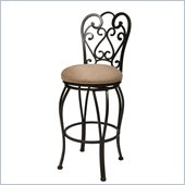Pastel Furniture Magnolia Rust 26 Swivel Bar Stool in Moccasin