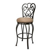 Pastel Furniture Magnolia Rust 30 Swivel Bar Stool in Moccasin