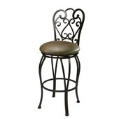 Pastel Furniture Magnolia Rust 30 Swivel Bar Stool in Florentine Coffee