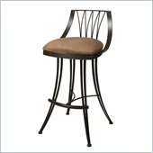 Pastel Furniture Metropolitan Rust 26 Counter Stool in Topanga Brown