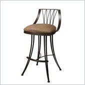 Pastel Furniture Metropolitan Rust Swivel Bar Stool in Topanga Brown