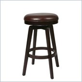Pastel Furniture Royal Vista Espresso 30 Backless Bar Stool in Stallion Brown