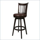 Pastel Furniture Woodhaven Espresso 26 Swivel Counter Stool in Stallion Brown