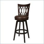 Pastel Furniture Knollwood 26 Swivel Bar Stool in Stallion Brown
