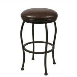 Pastel Furniture Island Falls 26 Backless Counter Stool in Ford Brown