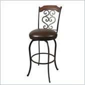 Pastel Furniture Jersey Meadow Rust 30 Swivel  Bar Stool in Ford Brown