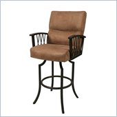 Pastel Furniture Ravenwood Rust 26 Arm Swivel Counter Stool in Topanga Brown