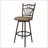 Pastel Furniture Florence 26 Swivel Counter Stool in Topanga Brown