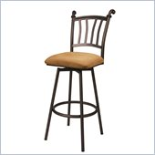 Pastel Furniture Fairfield 26 Swivel Counter Stool in Topanga Brown