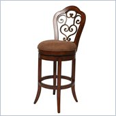 Pastel Furniture Carmel 30 Swivel Bar Stool in Cosmo Sepia
