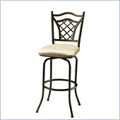 Pastel Furniture Willow Bridge 30 Swivel Bar Stool in Topanga Brown