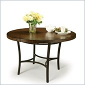 Pastel Furniture Atrium Round Wood Dining Table in Autumn Rust