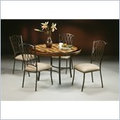 Pastel Furniture Atrium 5 Piece Travertine Dining Set