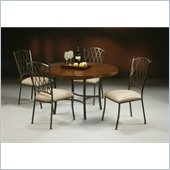 Pastel Furniture Atrium 5 Piece Copperstone Dining Set