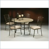 Pastel Furniture Atrium Travertine 5 Piece Dining Set