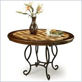 Pastel Furniture Atrium Travertine Dining Table in Autumn Rust