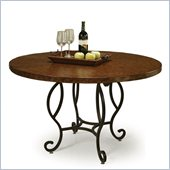 Pastel Furniture Atrium Copperstone Dining Table in Autumn Rust