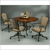 Pastel Furniture Atrium 5 Piece Copperstone Elegant Dining Set