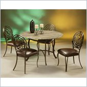 Pastel Furniture Island Falls Caster Hard Wood Dining Set