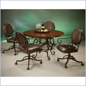 Pastel Furniture Island Falls Copperstone Tabletop Dining Table Set