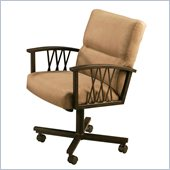 Pastel Furniture Ravenwood Topanga Brown Caster Chair in Autumn Rust