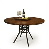 Pastel Furniture Ravenwood Copperstone Dining Table in Autumn Rust