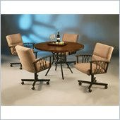 Pastel Furniture Ravenwood Caster Hammered Copperstone Dining Set
