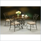 Pastel Furniture Magnolia Round Hard Wood Dining Set