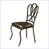 Pastel Furniture Oxford Stallion Brown Side Chair in Roletta Brown