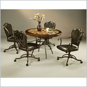 Pastel Furniture Oxford Hard Wood Dining Caster Set in Roletta Brown