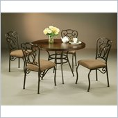 Pastel Furniture Vienna Round Hard Wood Dining Set in Roletta Brown