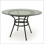 Pastel Furniture Vienna Glass Dining Table in Roletta Brown