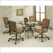 Pastel Furniture Vienna Glass Dining Set in Roletta Brown