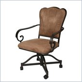 Pastel Furniture Vienna Topanga Brown Caster Chair in Roletta Brown