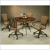 Pastel Furniture Westport Copperstone Caster Dining Set in Roletta