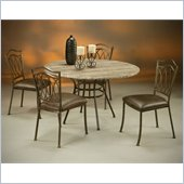 Pastel Furniture Westport Travertine Caster Dining Set in Roletta