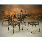 Pastel Furniture Westport Glass Dining Set in Roletta Brown