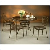 Pastel Furniture Westport Hard Wood Dining Set in Roletta Brown