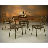Pastel Furniture Westport Copperstone Dining Set in Roletta Brown