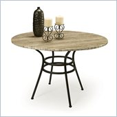 Pastel Furniture Westport Travertine Dining Table in Roletta Brown